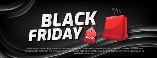 Black Friday-verkoopbanner met abstract licht