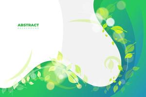 Green wavy background template