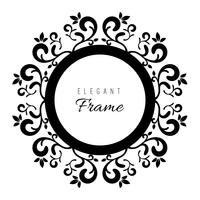 Zwart en wit ornament frame