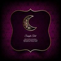 Tema de Ramadan Kareem. Tarjeta de vector con linternas, luna y luces