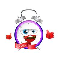 Back to school clock illustration