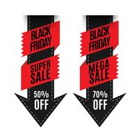 Black friday arrow in flat design