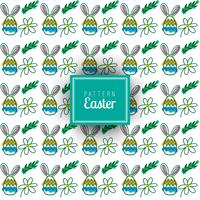 Seamless pattern with Easter motifs