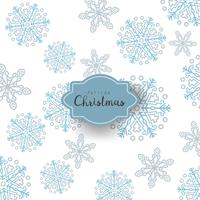 Christmas snowflakes in neutral colors with doodles and dots on white background