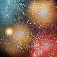 Fondo hermoso de fuegos artificiales de celebración 2019