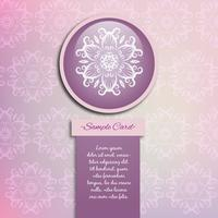 Purple mandala pattern background