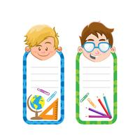 Back to school tags in boy style