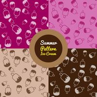 Ice cream pattern in different colours