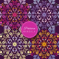 Colorful background with mandalas