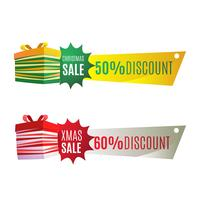 Discount banner for Christmas