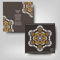 Vintage islamic style. Template design with ornament