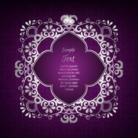 Elemento de design de ornamento vetor. Quadro floral antigo roxo