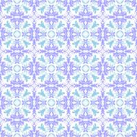 Floral pattern. Wallpaper baroque, damask. Seamless vector background. Turquoise, sky blue and white ornament