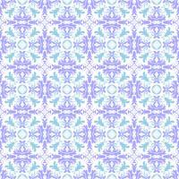 Estampa floral. Papel de parede barroco, damasco. Vetor sem costura de fundo. Ornamento de turquesa, céu azul e branco