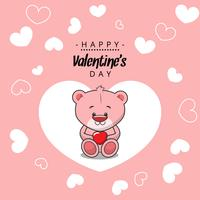Happy Valentines Pink Bear