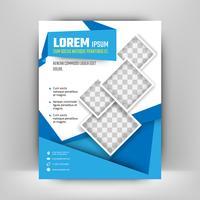 Modello di brochure aziendale. Modello di progettazione brochure. Illustrazione vettoriale