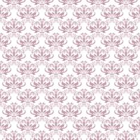 Bloemenpatroon. Behang barok, damast. Naadloze vector achtergrond. Paars en wit ornament