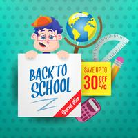 Creative back to school illustration