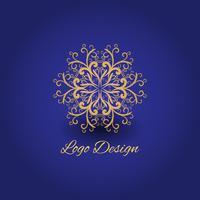 Luxury logo mandala design