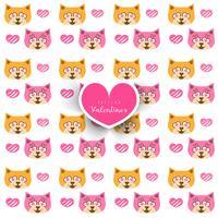 Naadloos patroon met kat