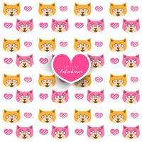 Nahtloses Muster mit Katze