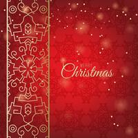 Kerst ornamenten gemaakt van sneeuwvlokken vector