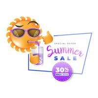 Summer sale label promotional advertising
