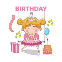 Joyeux anniversaire Illustration de la belle princesse