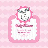 Baby shower card with cute rabbit