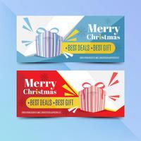 Creatieve kerst verkoopsjabloon banner