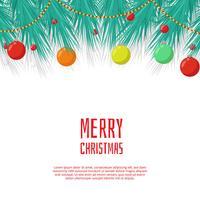 Incantevole sfondo di Natale con design piatto