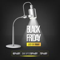 Background with light, black friday