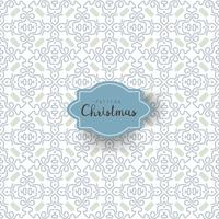 Seamless pattern with winter floral pattern