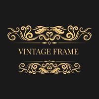 Moldura dourada vintage