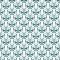 Blomönster. Tapet barock, damast. Seamless vektor bakgrund. Blå och vit prydnad