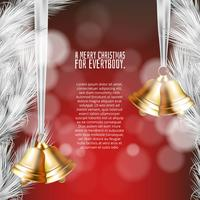 Merry christmas background with ornaments in realistic style