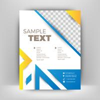 Blue and orange business flyer template. Modern background
