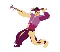 Court jester vector cartoon