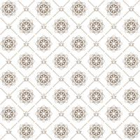 Circular pattern. Round vintage vector ornament in Arabesque style