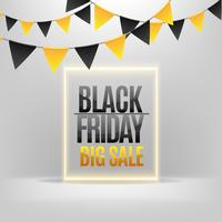 Black Friday sales with pennants