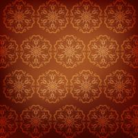 Brown mandala pattern background