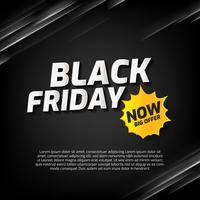 Black Friday Sale banner with abstract light