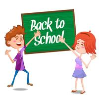 Niños felices de regreso a la escuela de fondo
