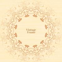 Vintage flourish ornament frame