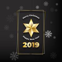Fond étoile de Noël doré