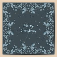 Merry Christmas holidays wish greeting card design and blue background