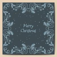 Feiertage der frohen Weihnachten wünschen Grußkartendesign und blauen Hintergrund