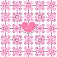 Nahtloses geometrisches Muster mit den Herzen dekorativ
