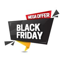 Black friday sale in origami style