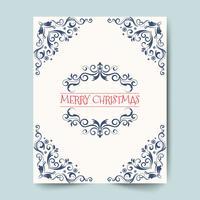 Feiertage der frohen Weihnachten wünschen Grußkartendesign und Weinlesehintergrund